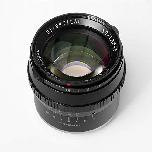 TTartisan 50mm F1.2 APS-C Large Aperture Manual Focus Fixed Lens Compatible with Fuji X-Mount Camera