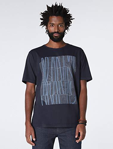 Camiseta Tipografia Linhas, Aramis, Masculino, Marinho, M