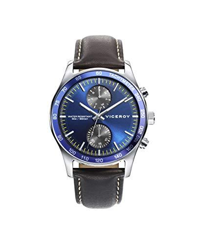 Reloj Viceroy para Hombre con Correa Marron y Pantalla en Azul 471199-37