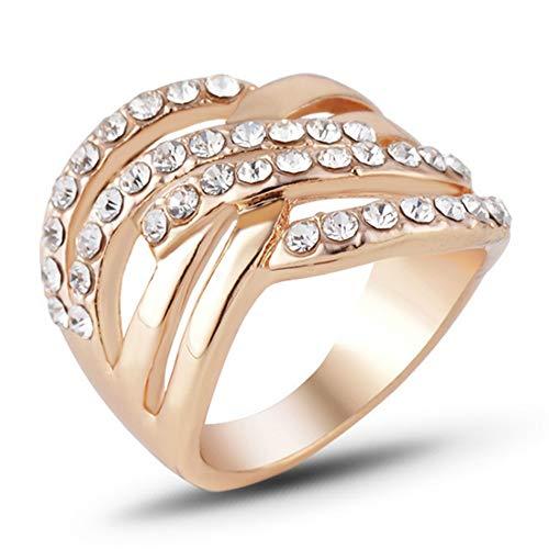 IWINO vrouwen verlovingsring mode kristallen ringen hoogwaardige gouden kleur sieraden groothandel trouwring vrouwelijke verlovingsaccessoires