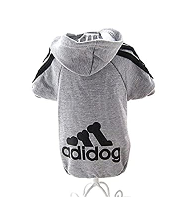 Adidog Dogs Clothing Jacket and Sweater Coat Warm Hoodies Coat Dogs Plus Velvet Pet Puppy T-Shirt
