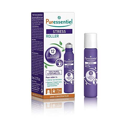 Puressentiel - Sommeil Détente - Roller Stress aux 12 Huiles Essentielles - 100% pures et naturelles - Aide à libérer les tensions et apaiser l'esprit - 5 ml