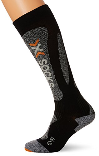 X-Socks Herren Socken SKI CARVING SILVER SINOFIT TECHNOLOGY, Black/Grey mouline, 35/38, X020025