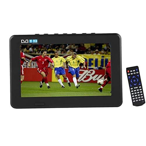 Eboxer Tragbarer Fernseher DVB-T2 High Sensitivity Auto-Digital-TV-Stereo, das 1080P Auto Television 7zoll/9zoll/10zoll mit Halterung (schwarz)(7 Zoll)