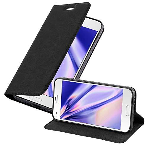 Cadorabo Hülle für HTC One A9S in Nacht SCHWARZ - Handyhülle mit Magnetverschluss, Standfunktion & Kartenfach - Hülle Cover Schutzhülle Etui Tasche Book Klapp Style