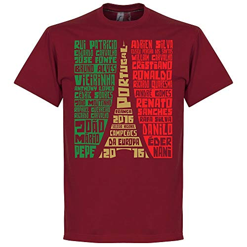 Portugal 2016 Champions Squad Graphic T-shirt - Deep Red - L