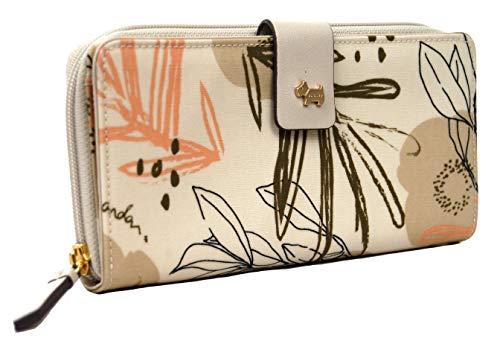 Radley Desert Floral Phone Cross Body Multi Way Bag Geldbörse Portemonnaie in Taubengrau