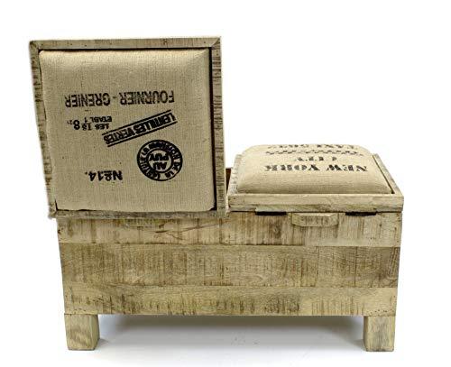 DARO DEKO Mango-Holz Bank 80 x 40 x 45cm - 5