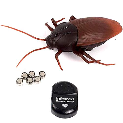 NiGHT LiONS TECH Realistic Remote Control cockroach Toy Joke Scary Trick Funny Toy for Partys or Halloween Prank