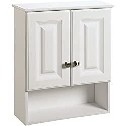 Seasons 493611 21 x 26 x 7 White Thermofoil Over The John Vanity Wall Cabinet