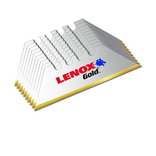 Lenox Gold Titanium Coated Utility Knife Blades - 10 Pack - Last 3X Longer Than Standard Blades