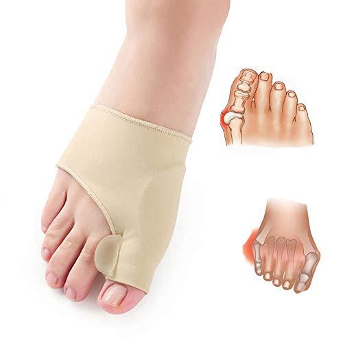 HiiBaby 2pcs Big Bone Orthopedic Bunion Correction Pedicure Socks Silicone Hallux Valgus Corrector Braces Toes Separator Feet Care Tool
