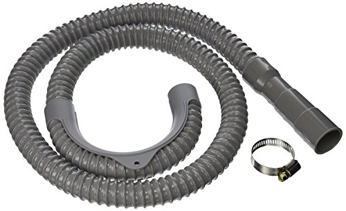 8 ft Long Washing Machine Drain Discharge Hose - Fits 1-Inch, 1-1/8-Inch, and 1-1/4-Inch Waching Machine Outlets - Hose Can be Cut to Any Length