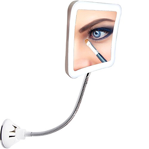 Sunplustrade Makeup Mirror With Lights and Magnification, Lighted Magnifying Mirror, Magnifying Mirror With Light, Lighted Makeup Mirror, Magnifying Makeup Mirror, Portable Personal Led Make Up Mirror