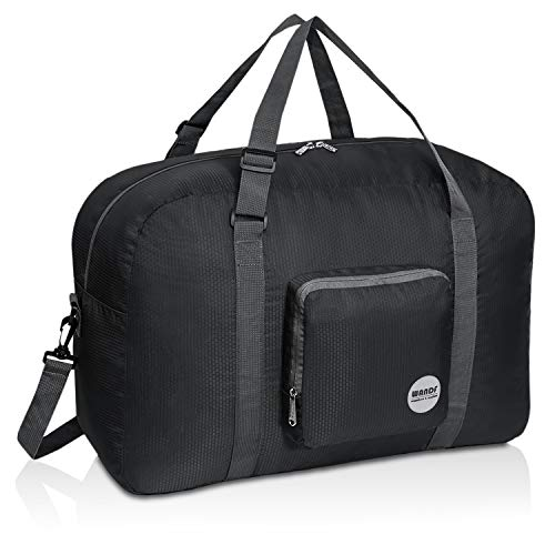 Foldable Duffle Bag 50L, Super Lightweight Travel Duffel for Luggage Sports Gym Water Resistant Nylon by WANDF