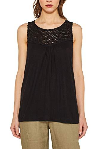ESPRIT Damen 059EE1K016 T-Shirt, Schwarz (Black 001), Medium (Herstellergröße: M)
