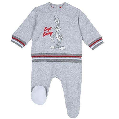 Chicco, Juego de cubrepañuelos con ficha Bugs Bunny para niño gris 3-6 meses