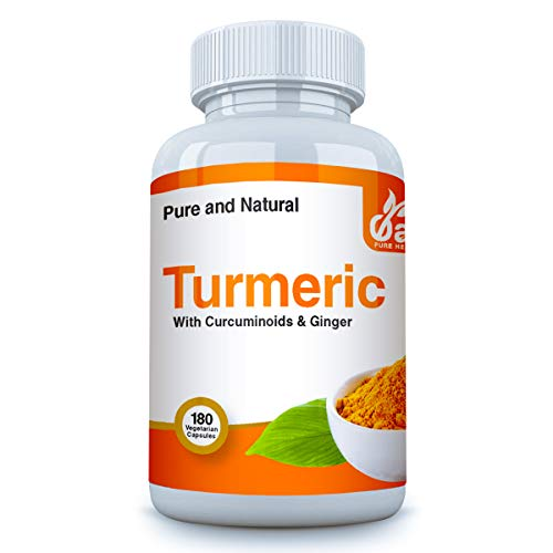 Turmeric Capsules High Strength 180 Veg Caps 3 Months Supply 160mg Curcumin Extract Per Serving Ginger To Maximise Absorption and Gentle on Stomach Premium Grade