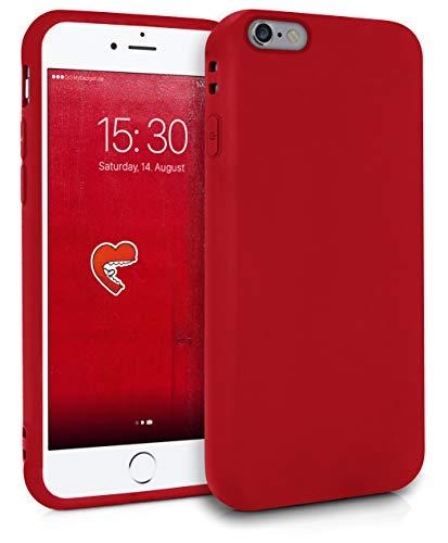 MyGadget Silikon Hülle für Apple iPhone 6 / 6s - robuste Schutzhülle TPU Case Slim Silikonhülle Back Cover Ultra Kratzfest Handyhülle matt Rot