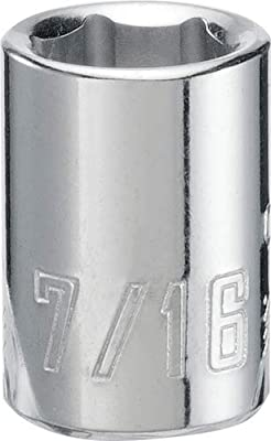 CRAFTSMAN Shallow Socket, SAE, 3/8-Inch Drive, 7/16-Inch, 6-Point (CMMT43002)
