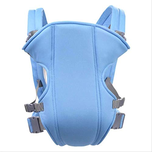 HTTIB Baby Carrier,Multifunctional Double Shoulder Baby Carry Bag,Child Baby Lumbar Stool Front Carrying Belt (Color : Blue)