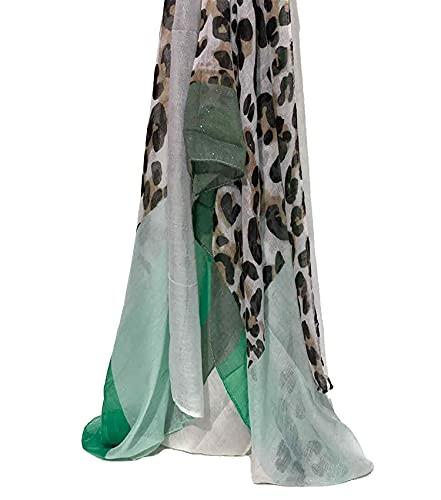 Ladies Leopard Print Scarf Animal Print Womens Long Large Lightweight Summer Size 180 X 70cm