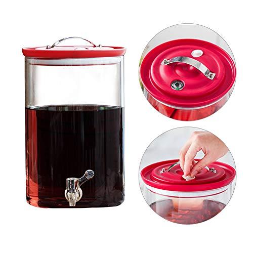 Barrel drankdispenser, 6/8 l, drankdispenser, met houder en opzetstuk, hittebestendig, voor citroenade/thee/warm/koud water ABS Spigot-no base 8l