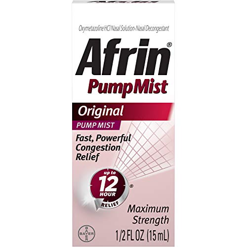 Afrin Original Maximum Strength 12 Hour Nasal Congestion Relief Pump Mist - 15 mL (pack of 3)