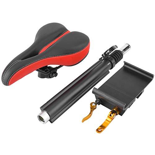 Wosune Sillín de Asiento de Scooter eléctrico, Asiento Transpirable para Scooter M365, Esponja de 38 cm de Longitud de Varilla M365 para la mayoría de Scooters
