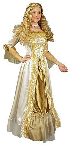 K31250538-44-46 beige Gold Prinzessinen Kleid Barockkostüm Gr.44-46