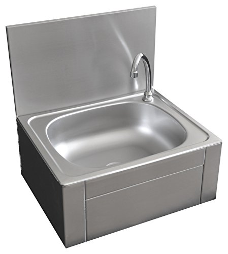 Handwaschbecken mit Kniebedienung Waschbecken Ausgußbecken Ausguss 400 x 400 x 260 mm