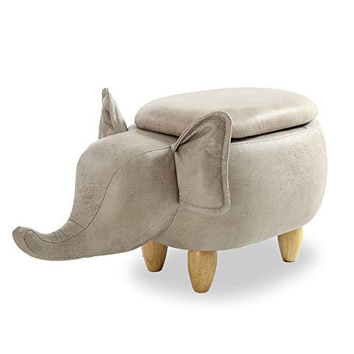 XiuHUa Sofa Tabouret - - Tabouret Elephant, Salon en Bois Massif créatif, Meuble for Chambre à Coucher (Taille 33X6CM) Tabouret (Color : Store White)