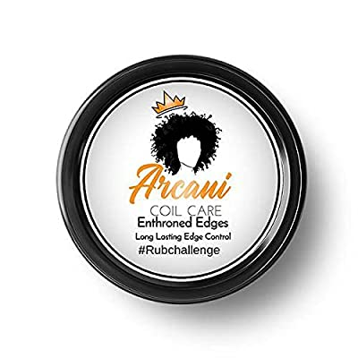 Arcani Coil Care Enthroned Edges   Water-Based Edge Control   No Flakes, No Residue, No Greasy Feeling (4 oz)