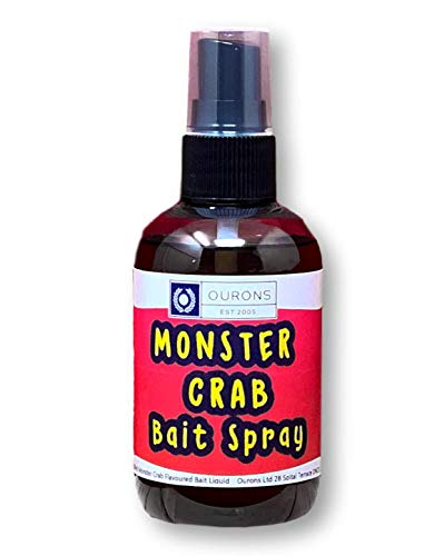 OURONS Cebo de Pesca Spray Monstruo Cangrejo Carpa Atrayente Sabor 100 ml