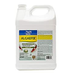 Contains one (1) API POND ALGAEFIX Algae Control 2.5-Gallon Bottle; treats up to 96,000 U.S Gallons Helps resolve algae problems and controls the formation of new algae; works fast; effectively controls most types of algae including green water (Chlo...