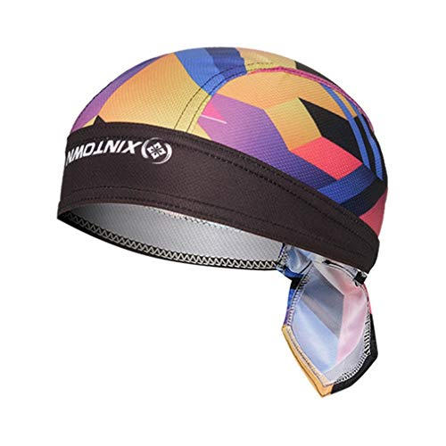 X-Labor Unisex Bandana Cap UV Schutz Kopftuch Bikertuch Sonnenhut Stirnband Fahrrad Erwachsene Radsport Motorrad Kopfbedeckung Motiv-A