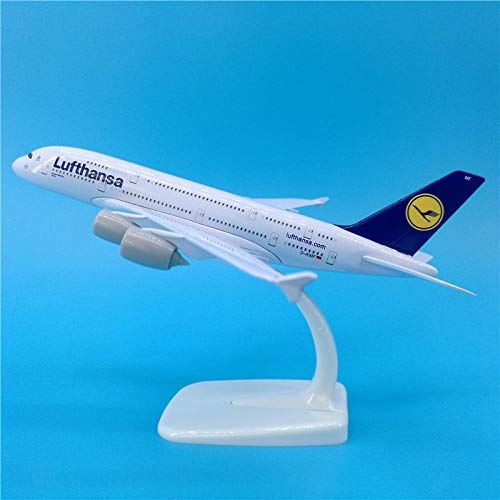 QLRL 20Cm Airbus Airbus A380 Lufthansa Airlines Airplanes Plane Aircraft Alloy Model Toy No Landing Gear Toys F Collections
