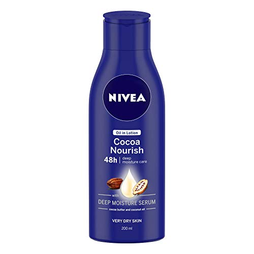NIVEA Body Lotion, Oil in Lotion Cocoa Nourish, For Very Dry Skin,...