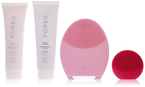 FOREO A DREAM COME TRUE Anti-Aging Skin Care Set, Includes LUNA 2 Facial Cleansing Brush & LUNA play Face Brush & 60 ml Day and Night Cleansers