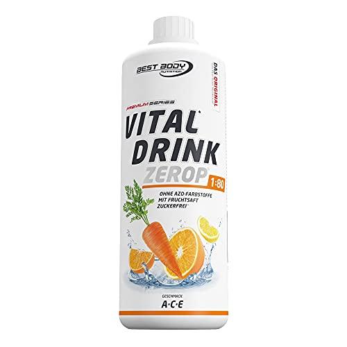 Best Body Nutrition Vital Drink ZEROP - A-C-E, Original Getränkekonzentrat Sirup zuckerfrei, 1:80 ergibt 80 Liter Fertiggetränk, 1000 ml