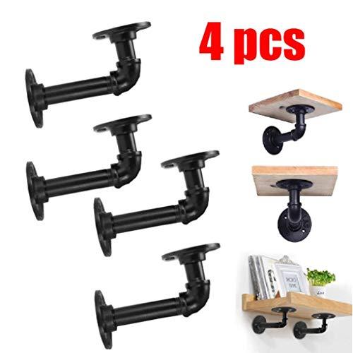 GOVD Industrial DIY Pipe Shelf Brackets for Book Shelf Floating Shelves Plumbing Pipe Shelf Rustic Home Pipe Shelf (Size : 1214cm)