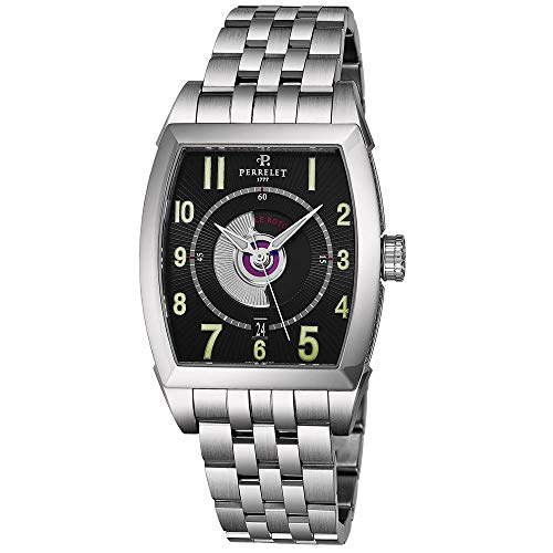 Perrelet Men's Double Rotor Steel Bracelet & Case Automatic Watch A1029-C