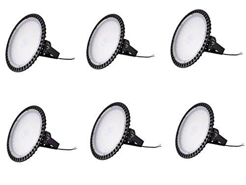 Yuanline LED Projecteur UFO ultra-mince Lampe Industriel LED Extérieur Spot Phare de Travail 100W pour extérieur stade intérieur place panneaux d'affichage usine entrepôt etc. (6)