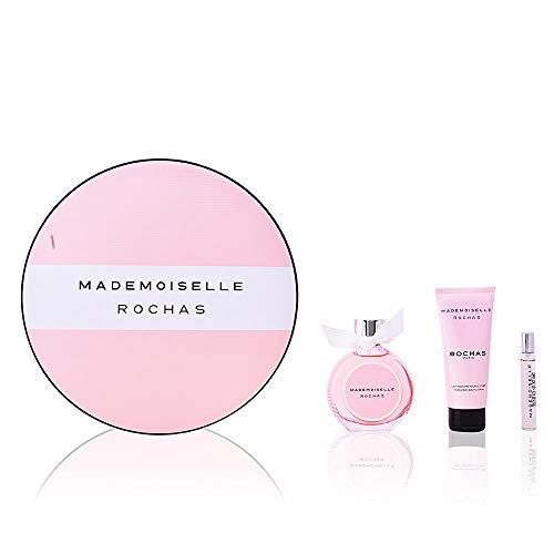 Mademoiselle Rochas - Coffret cadeau - Eau De Parfum Vaporisateur 90ml - Lait pour le corps 100ml - Eau De Parfum Spray 7.5ml