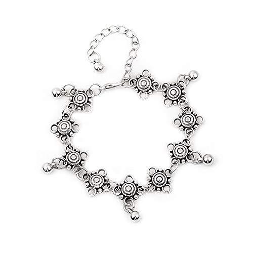 N-brand PULABO Knöchelarmband mit zarten kleinen Glocken ausgehöhlten Frauen Fußketten Robust und kostengünstig Beliebt