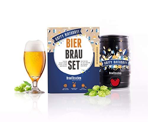 Braufaesschen Bierbrauset zum selber Brauen | Geburtstagsbier im 5L Fass | Leckeres Bier In 7 Tagen gebraut | Perfektes Männergeschenk