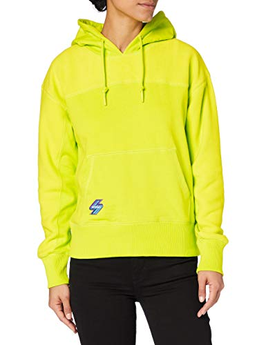 Superdry Sportstyle NRG Polar Hood Sudadera con Capucha, Lime Punch, L para Mujer