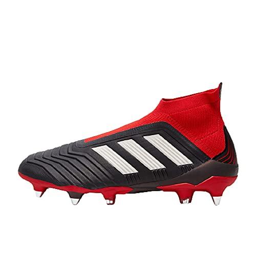 adidas Predator 18+ SG, Zapatillas de Fútbol Hombre, Negro (Cblack/Ftwwht/Red Cblack/Ftwwht/Red), 44 EU