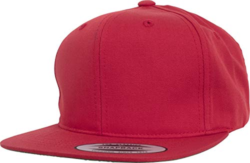 Flexfit Kinder Pro-Style Twill Snapback Youth Cap Kape, red, 2-6 Jahre