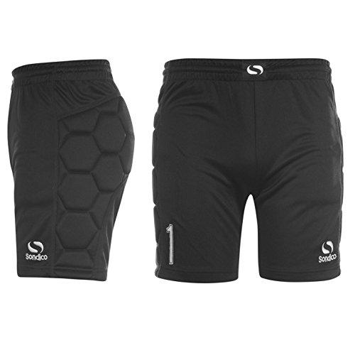 Sondico infantil de portero del de los deportes de pantalones cortos de balón de fútbol pantalones de running para, color negro, tamaño 9-10 (MB)